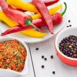 Red Hot Chili Peppers with various spices
