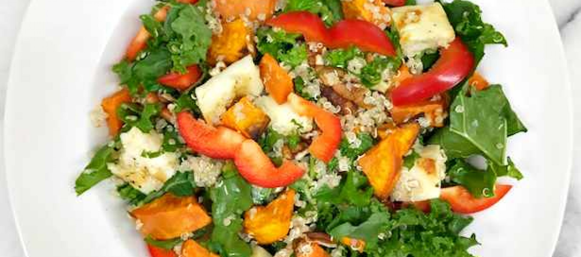 Quinoa Salad with Roasted Vegetables and Greens