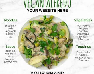 Nutrition Graphic: How to Make Vegan Alfredo