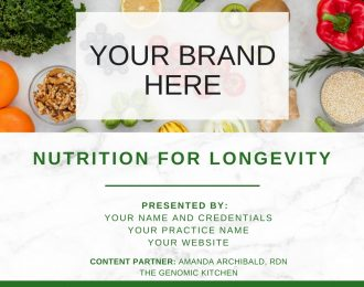 Nutrition for Longevity – COMING SOON