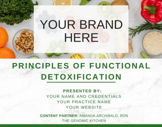 Principles of Functional Detoxification
