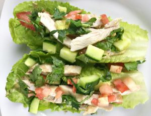 Chicken Lime Lettuce Wraps