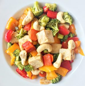Tofu Vegetable Sheet Pan Stir Fry