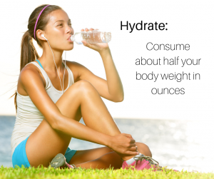 Be sure to stay hydrated, especially on warmer days
