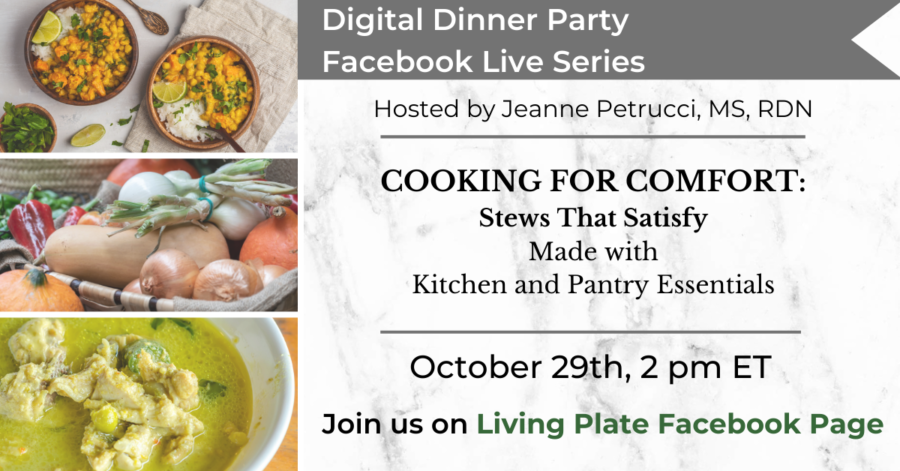Digital Dinner Party Facebook LIVE: 10.29.20